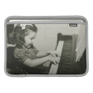 Girl Playing Piano MacBook Sleeve