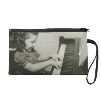 Girl Playing Piano Wristlet