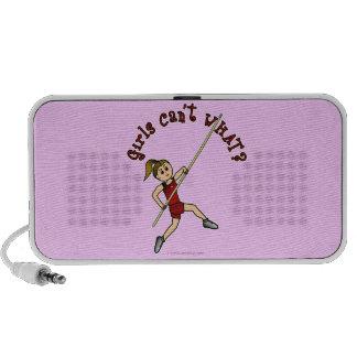 Girl Pole Vaulting - Red Light iPod Speaker