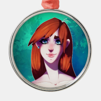 Girl Portrait Christmas Ornament
