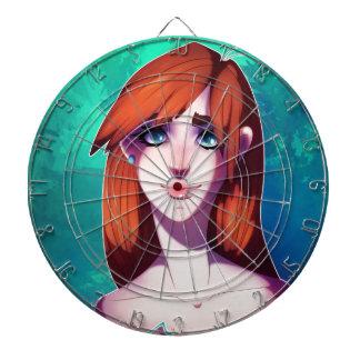 Girl Portrait Dartboard