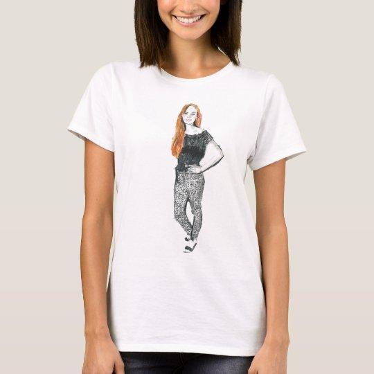 Girl Pose Fashion Illustration T-shirt