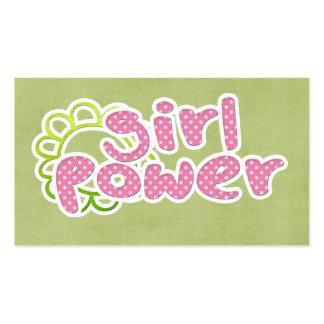Girl Power! Business Card Template
