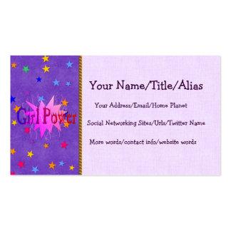Girl Power Business Card