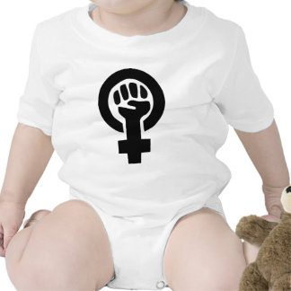 Girl Power Feminist Symbol Rompers
