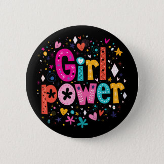 Girl Power Flower Button | Mini Brothers