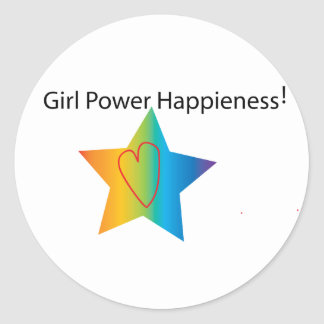 Girl Power Happiness Sticker