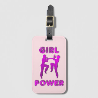 Girl Power Martial Arts Females Luggage Tag