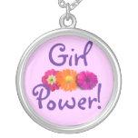 Girl Power! Pink, Purple, Orange Flowers Custom Necklace