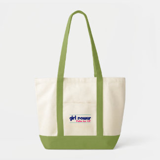 Girl Power - Sarah Palin for VP Green/White Tote Canvas Bag