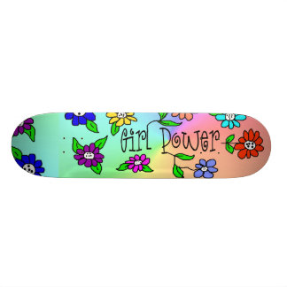 Girl Power Skateboard by Brownielocks