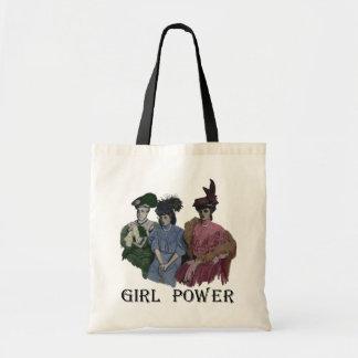 Girl Power Vintage Ladies Tote Canvas Bags