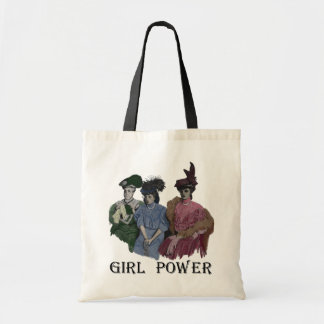Girl Power Vintage Ladies Tote Budget Tote Bag