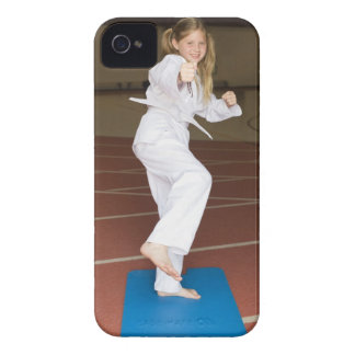 Girl practicing karate iPhone 4 cover