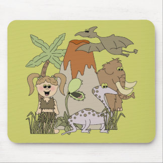 Girl Prehistoric Life T-shirts and Gifts Mousepad