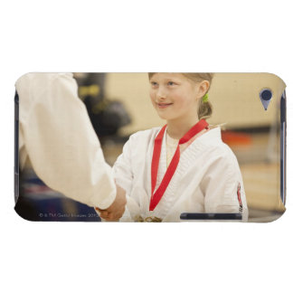 Girl receiving a medal at a Karate championship Barely There iPod Case