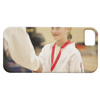 Girl receiving a medal at a Karate championship Barely There iPhone 5 Case