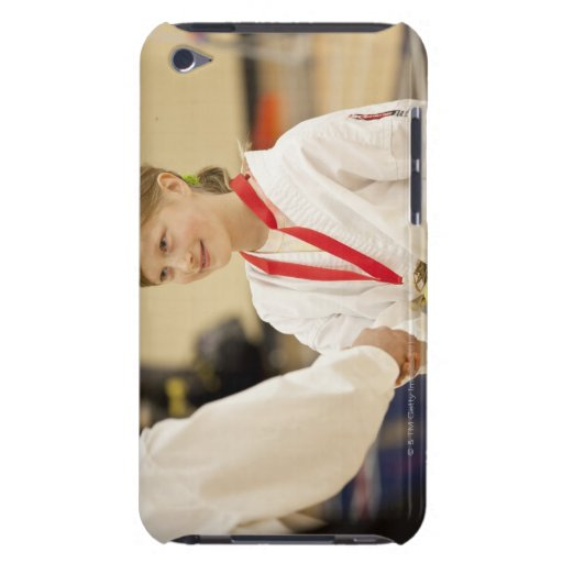 Girl receiving a medal at a Karate championship iPod Case-Mate Cases