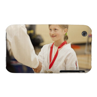 Girl receiving a medal at a Karate championship Case-Mate iPhone 3 Case