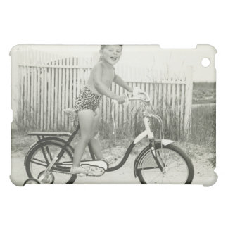 Girl Riding Bicycle Case For The iPad Mini