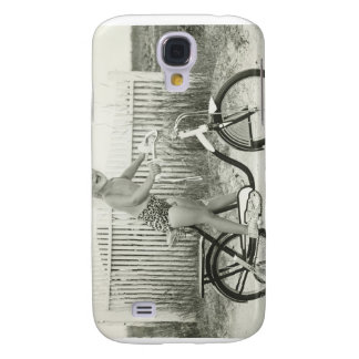 Girl Riding Bicycle Galaxy S4 Case