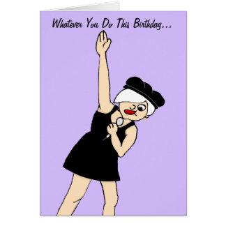 Girl Rock Star Birthday Card