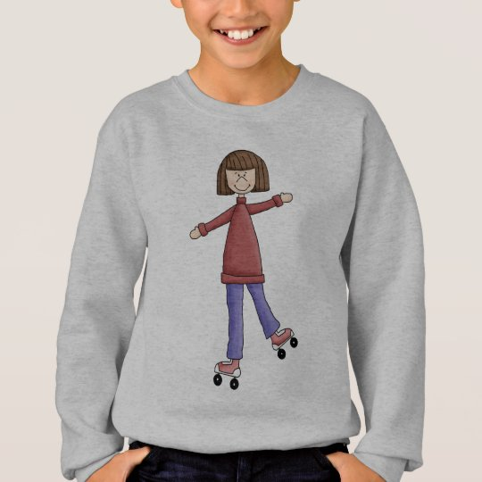 Girl Rollerskating Sweatshirt