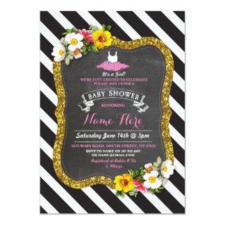 Girl Roses Red Tutu Ballet Pink Baby Shower Invite