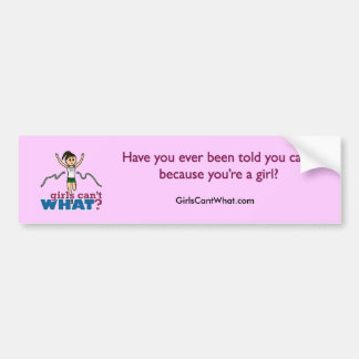 Girl Running in Green Bumper Sticker