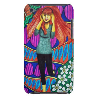 Girl Running In Psychedelic Garden iPod Case-Mate Case
