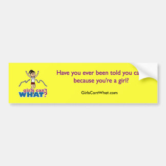 Girl Running in Red Bumper Stickers