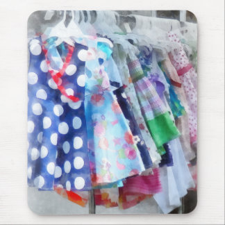 Girl s Dresses at Street Fair Mouse Pads