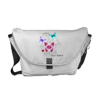 """Girl's """"Free to be Me"""" Butterflies Messenger Bag"""