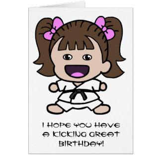 Girl s Karate Birthday Card Cards