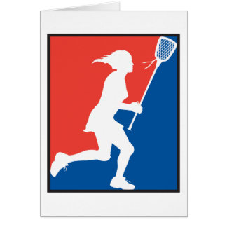 Girl s Lacrosse Greeting Cards