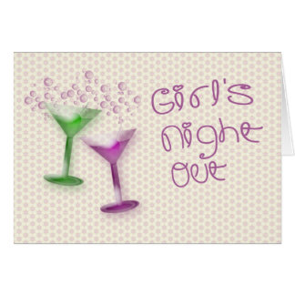 Girl s Night Out Invitation Greeting Card