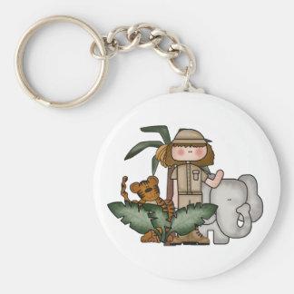 Girl Safari Keychain