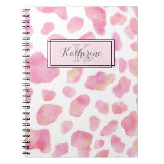 GIRL SAFARI - Pink Leopard print Notebook