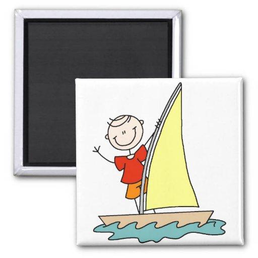 Girl Sailing Magnet Magnets