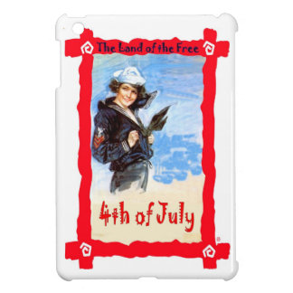 Girl sailor, 4th of July iPad Mini Cases