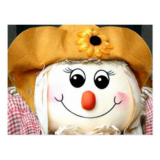 Girl Scarecrow Doll Postcards
