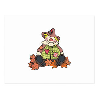 GIRL SCARECROW IN LEAVES POST CARDS