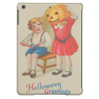 Girl Scaring Boy Book Jack O' Lantern iPad Air Cases