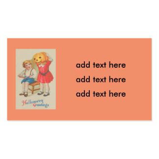 Girl Scaring Boy Book Jack O' Lantern Pack Of Standard Business Cards