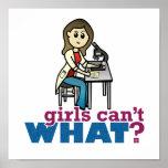 Girl Scientist Poster