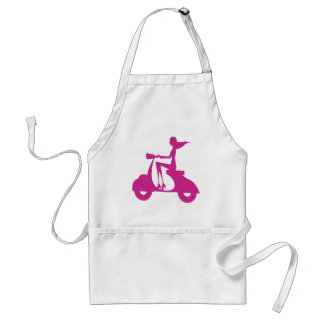 Girl Scooter hot pink Standard Apron