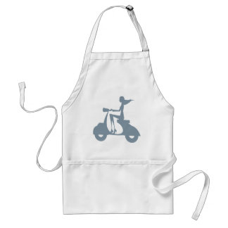 Girl Scooter periwinkle Standard Apron