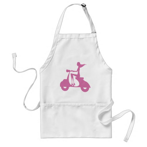 Girl Scooter soft pink Aprons