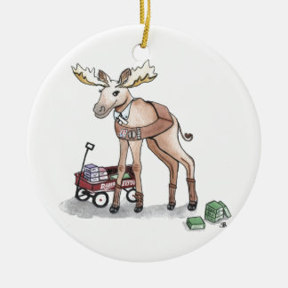 Girl Scout Moose Christmas Ornament
