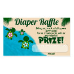 Girl Sea Turtle Honu Family Diaper Raffle Tickets Pack Of Standard Business Cards